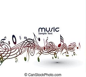 hudební zaregistrovat, grafické pozadí