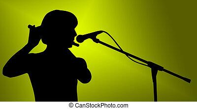 hudebník, silueta