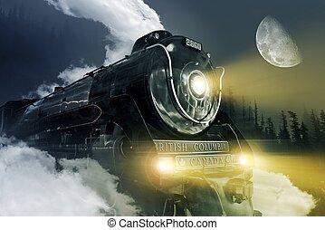 hudson, 蒸気, 機関車