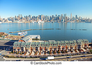 hudson flod, new york city, panorama
