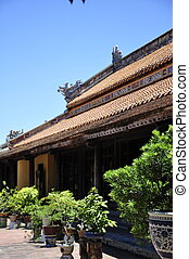 Hue Citadel Temple - Temple building in Hue Citadel in...
