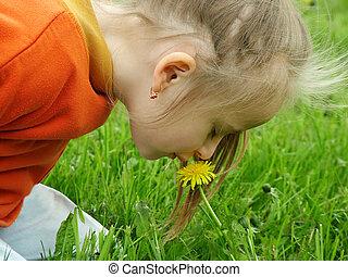 huela la flor