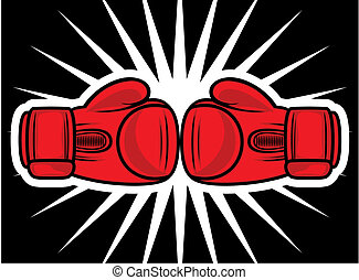 huelga, guantes, boxeo