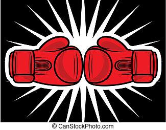 huelga, guantes de boxeo