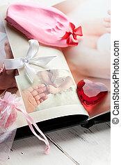 huella, photobook, bebé, recuerdo