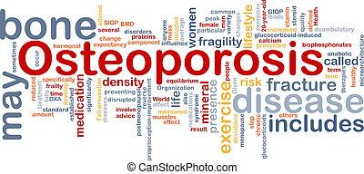 hueso, concepto, osteoperosis, plano de fondo