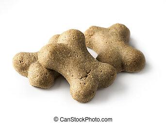 hueso, formado, galleta de perro