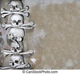 huesos, cráneos, humano