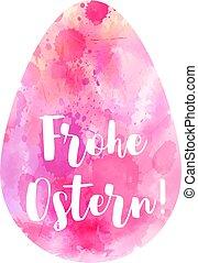 huevo de pascua, abstract., frohe, ostern.