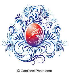 huevo de pascua, florido