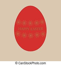 huevo de pascua, rojo