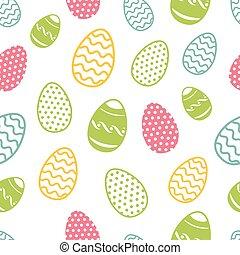 huevo de pascua, seamless, pattern., cupcakes, ostern, plano...