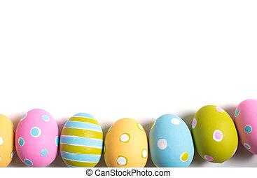 huevos, blanco, Pascua, adornado, Plano de fondo