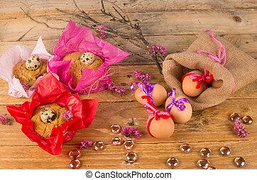 huevos, de, pascua, mona