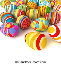 huevos, feliz, pila, easter.
