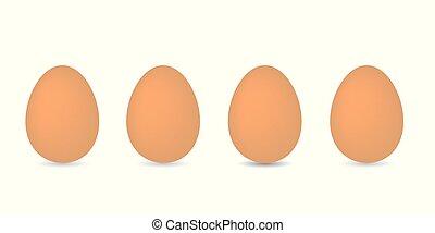 huevos, fila