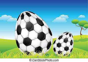 huevos, futbol, pascua