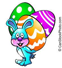 huevos, Pascua, conejito