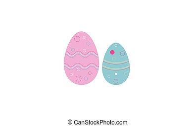 huevos, pascua, icono