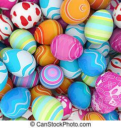 huevos, pascua, plano de fondo