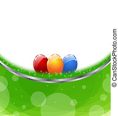 huevos, Pascua, tarjeta, colorido