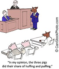 """Huff and puff - """"In my opinion the pigs subconsiously wanted..."""