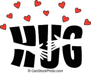 hug love birthday friendship or valentines day