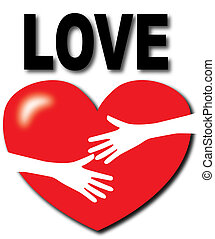 hug love icon sign