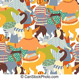 Hug pets dogs and cats back seamless pattern friends.