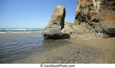 Hug Point, Oregon coast, where stagecoaches used the beach...