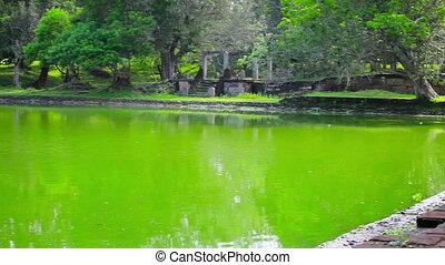 Huge ancient swimming pool - Video 1920x1080 - Anuradhapura,...