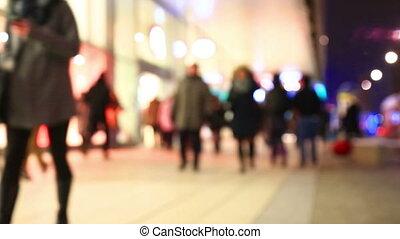 Huge anonymous crowd on street