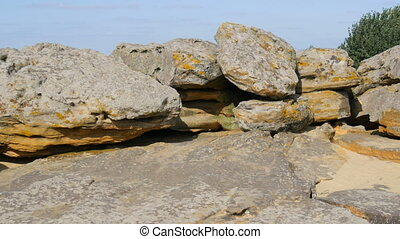 Huge boulders of the world famous monument and sacred place ...
