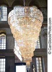 Huge Chandelier in entrance hall