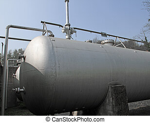 huge cistern for the storage of flammable liquids in a protected area