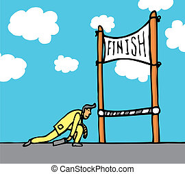Huge effort getting to the finish line