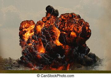 explosion - huge explosion