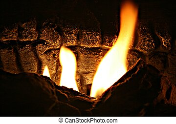 Huge flames burning, great texture - Huge flames burning...