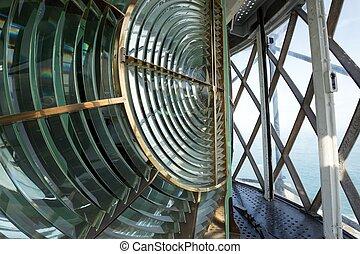 Huge Fresnel lens in a lighthouse