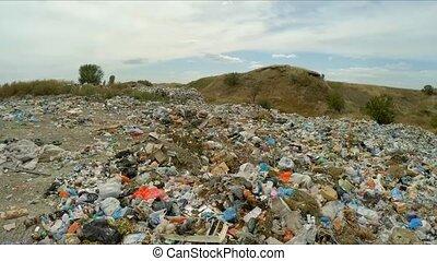 Huge Garbage Dump Outside City In Ukraine - PAN SHOT:...