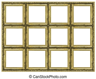 Huge golden frame