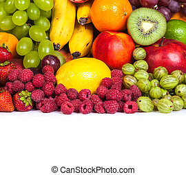 Huge group of fresh fruits