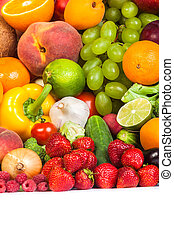 Huge group of fresh fruits