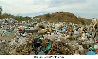 Huge Heap Of Domestic Garbage At Landfill In Ukraine