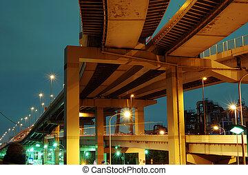 huge highway structure
