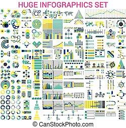 huge Infographics set - Vector mega set of infographic...