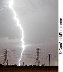 Huge Lightning Bolt Strike Storm Chaser Gulf of Mexico -...