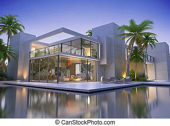 Huge modern villa with pool