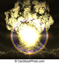 Huge nuclear explosion