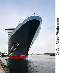 Huge passenger ship at the port of Stavanger, Norway.